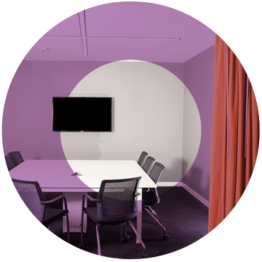 AV Meeting Rooms with tv set
