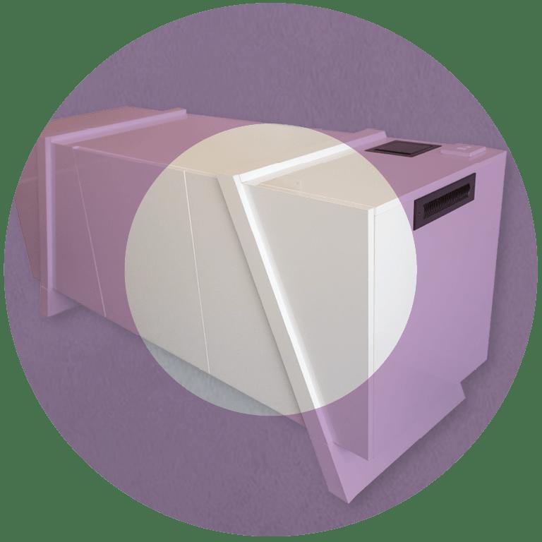 Custom AV credenza white