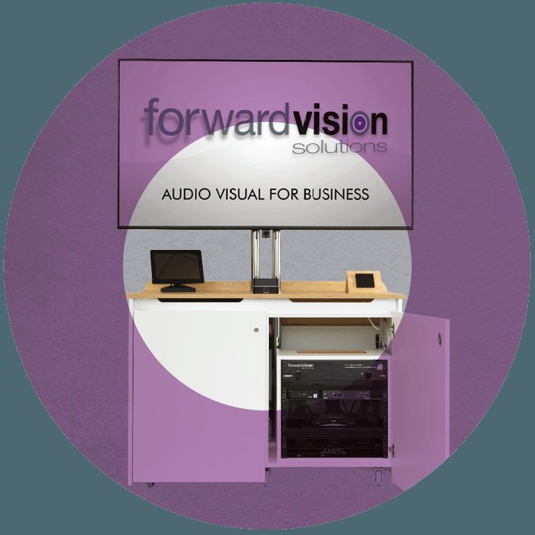 AV credenzas built in support